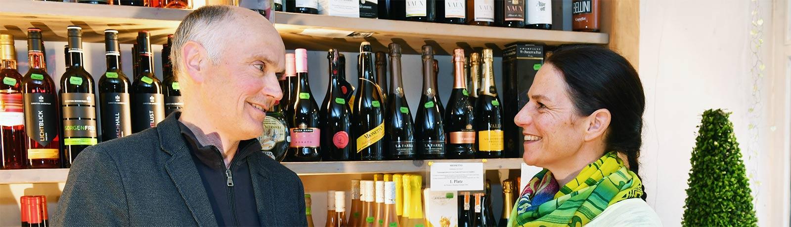 Beratung bei De Crignis Wein